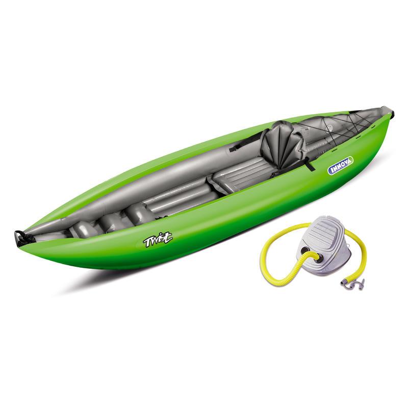 Twist I Inflatable Kayak (w/pump) Green/Grey