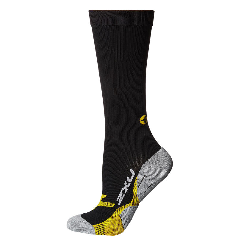 Chaussettes de compression Flight Noir/Jaune