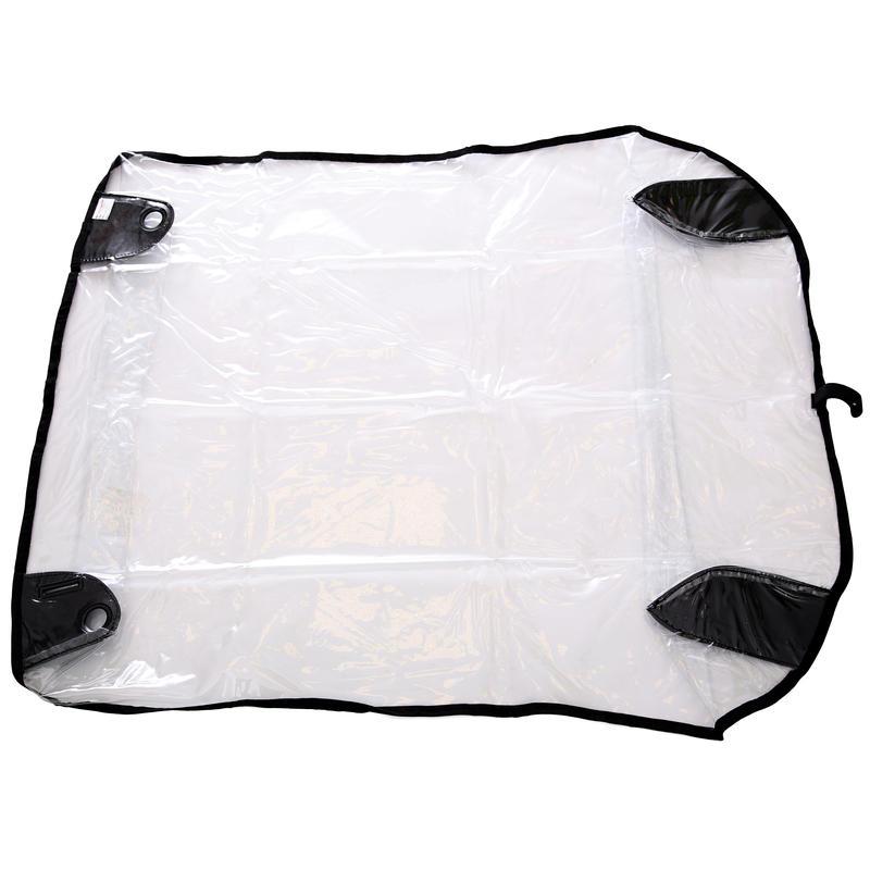 Housse imperméable pour poussette simple Transparent
