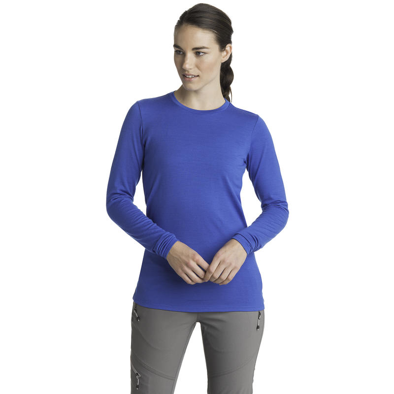 Merino T2 Long-Sleeved Crew Cobalt