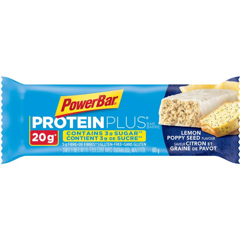 Barre Protein Plus citron et graines de pavot
