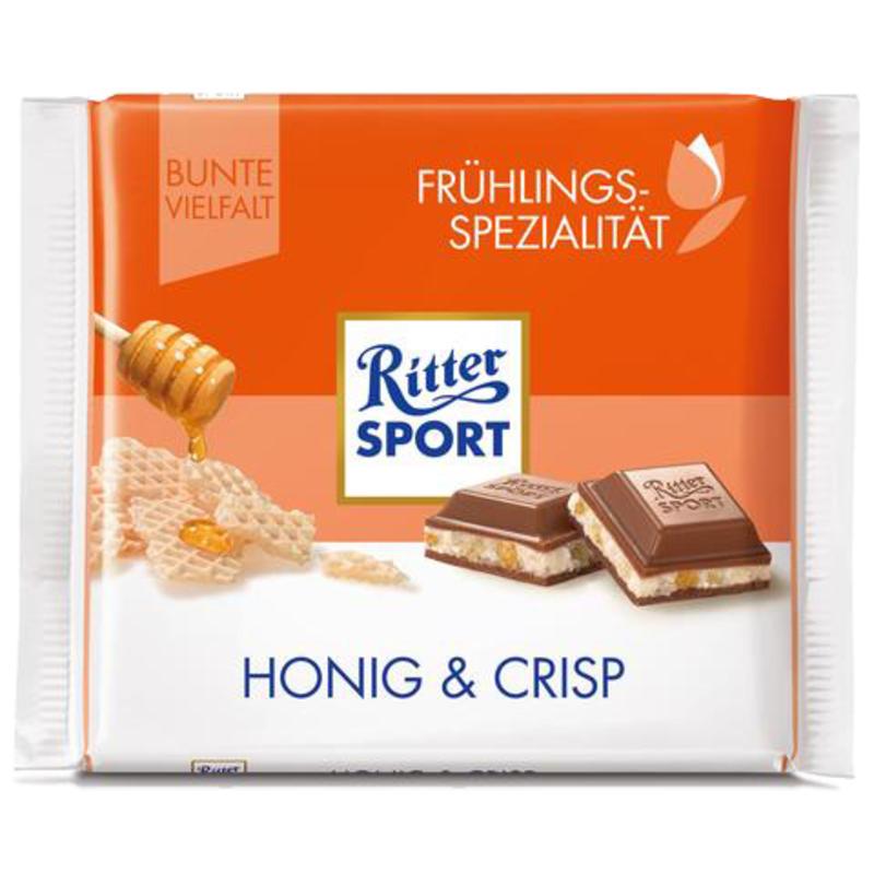 Tablette de chocolat au miel et riz croustillant