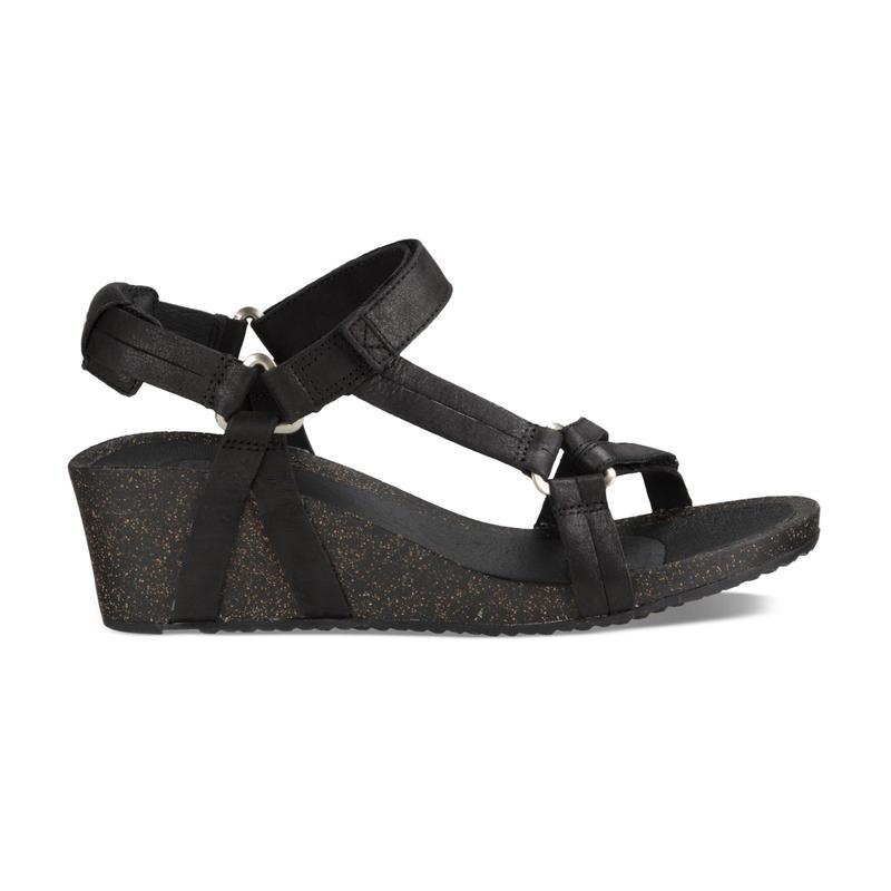 Sandales à semelle compensée Ysidro Universal Noir