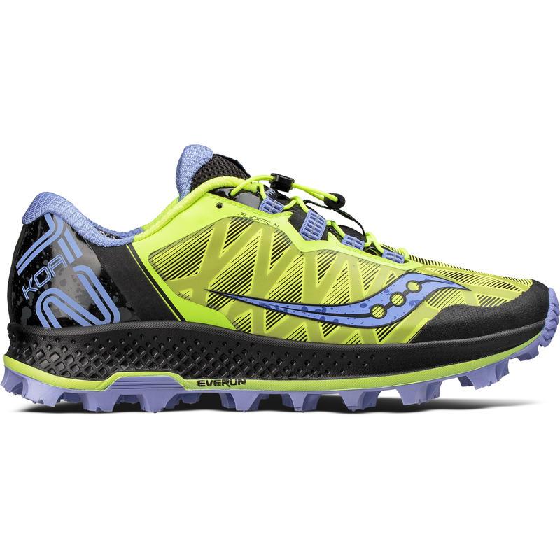Chaussures de course sur sentier Koa ST Citron/Pourpre