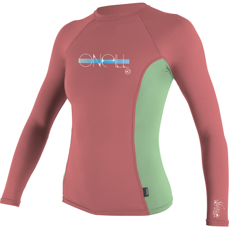 Skins Long Sleeve Crew Coral/Mint/Coral