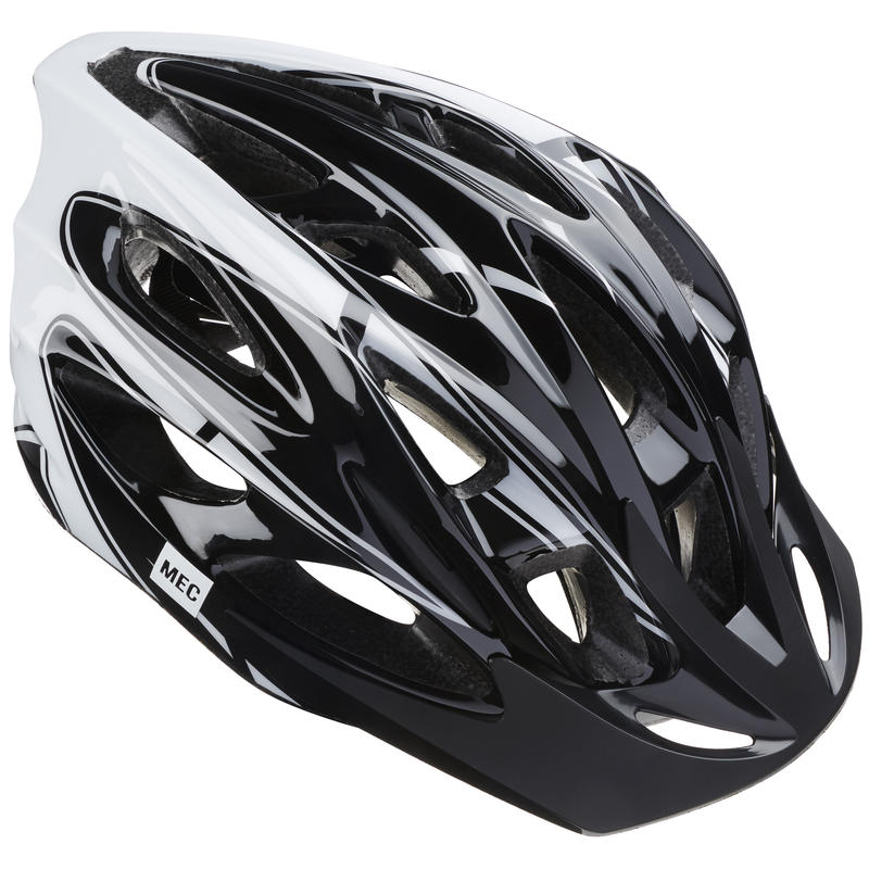 Greyhound Cycling Helmet Black/White Stripe