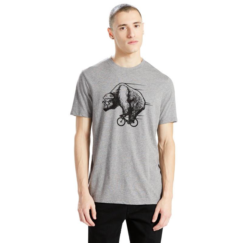 T-shirt à ourlet allongé Commuter Ours/Molleton chiné