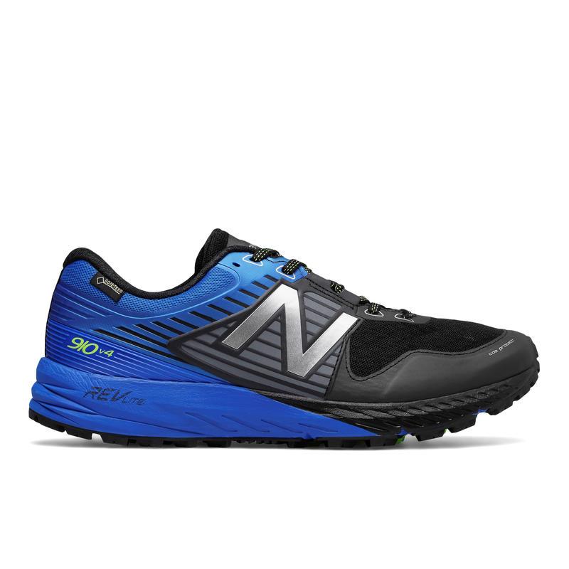 Chaussures de course sur sentier 910v4 GTX Noir/Cobalt vif