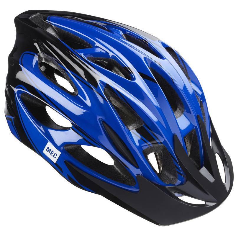 Casque de vélo Greyhound Bleu/Rayures noires