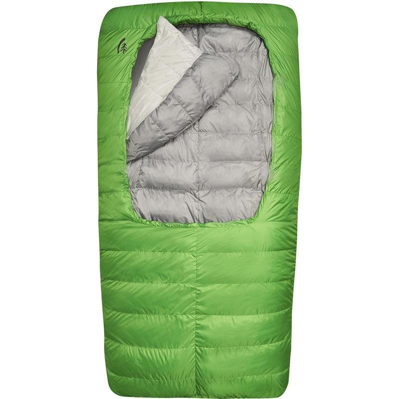 Sac de couchage Backcountry Bed 600 -3C double Gris neige fondue/Vert branché