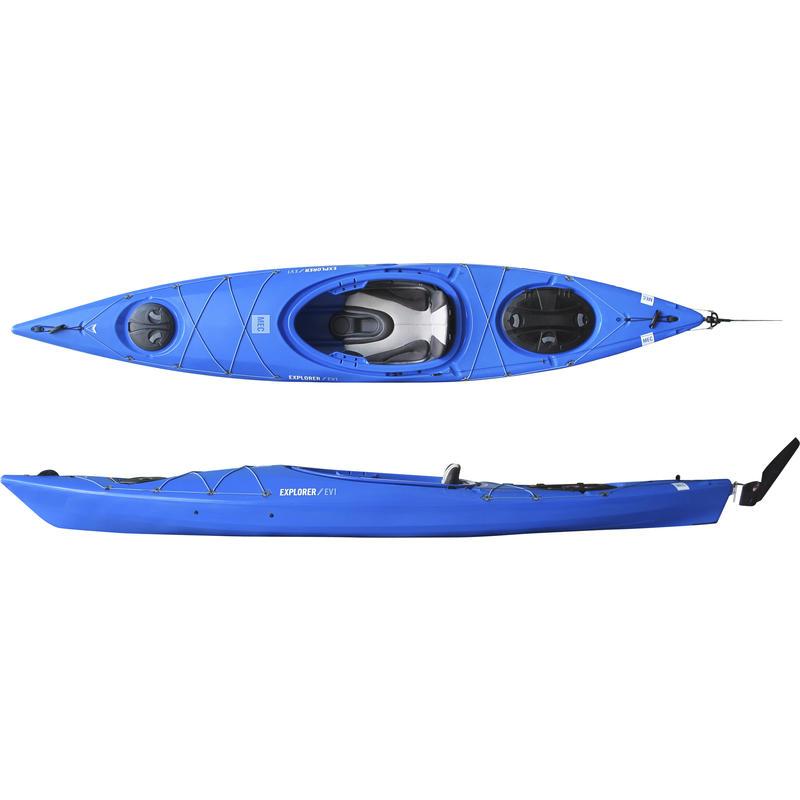 Kayak Explorer/EV1 125 avec gouvernail Bleu de cobalt
