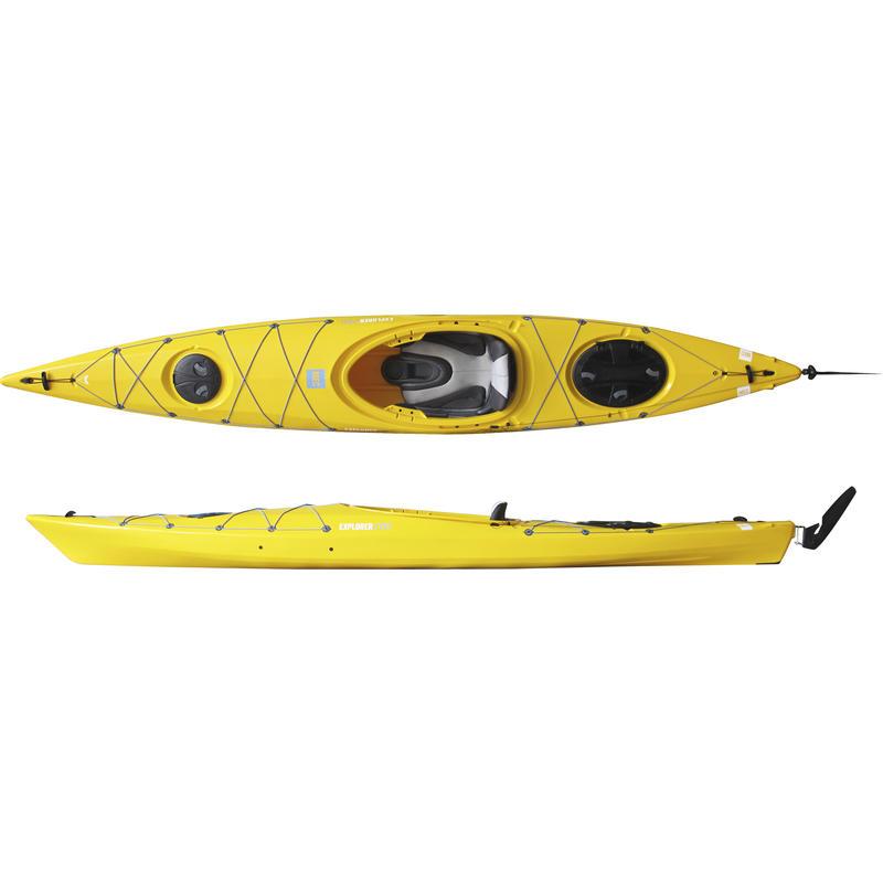 Kayak Explorer/EV1 140 avec gouvernail Jaune Spectra