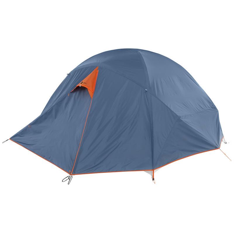 Double toit pour tente Wanderer 4 Bleu fumée/Carotène
