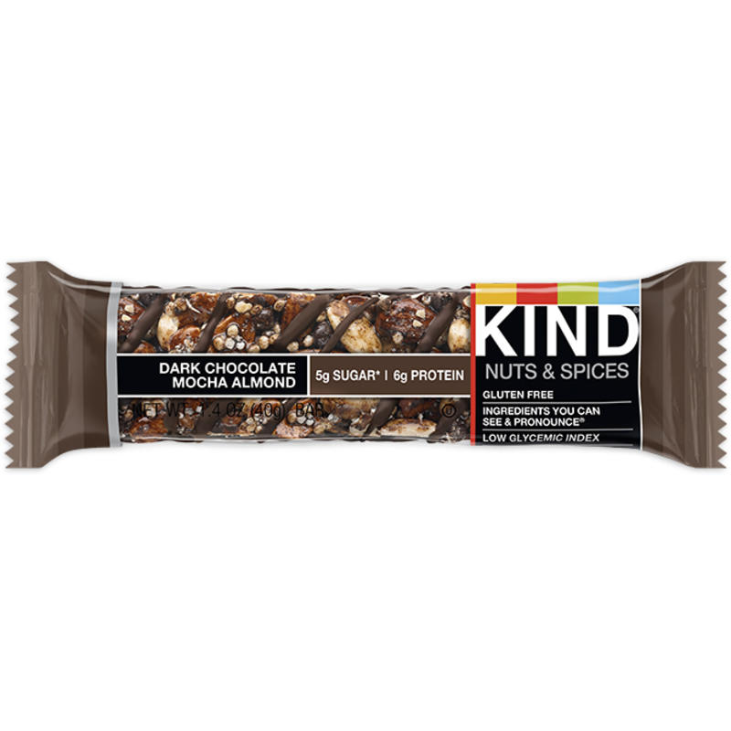 Barre au chocolat noir, au moka et aux amandes