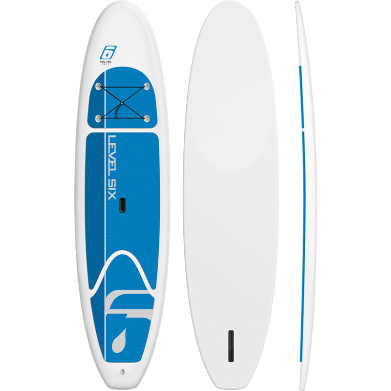 Ensemble de surf à pagaie Ten-Ten H.D.P.E. Blanc/Bleu