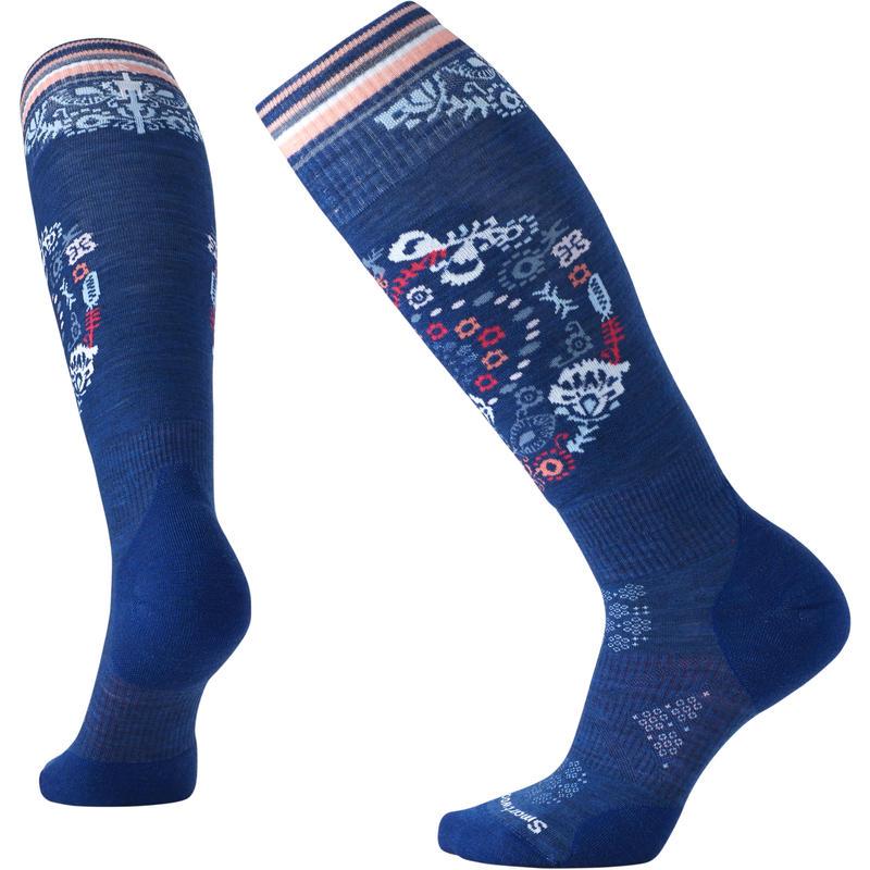 Chaussettes de ski PhD Ski Light Elite à motif Bleu foncé