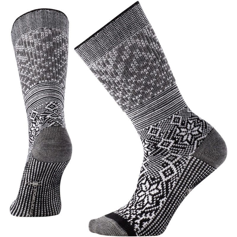 Snowflake Flurry Socks W Black