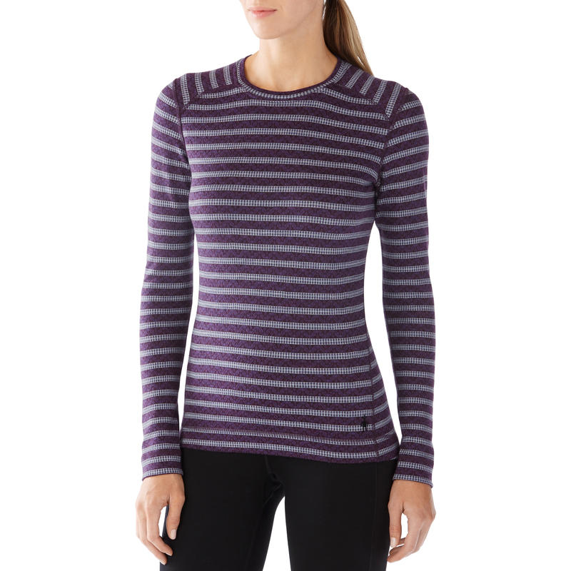 Merino 250 Baselayer Pattern Crew Mountain Purple/Blue Ice