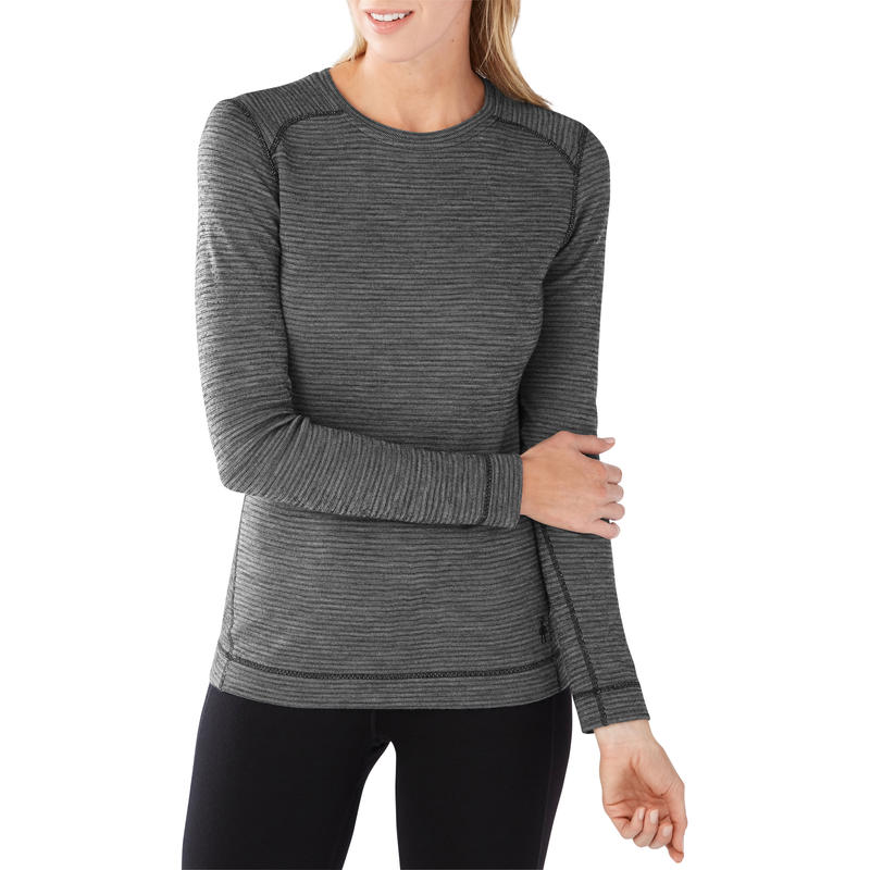 Merino 250 Baselayer Pattern Crew Black/Black