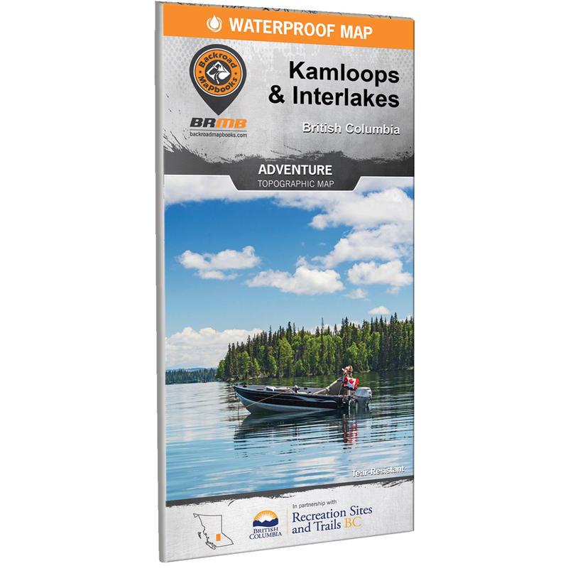 Kamloops& Interlakes Waterproof Map
