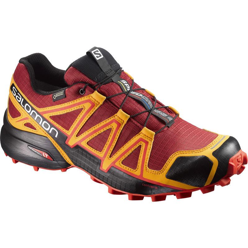 Speedcross 4 GTX Trail Running Shoes Red Dahlia/Bright Marigold