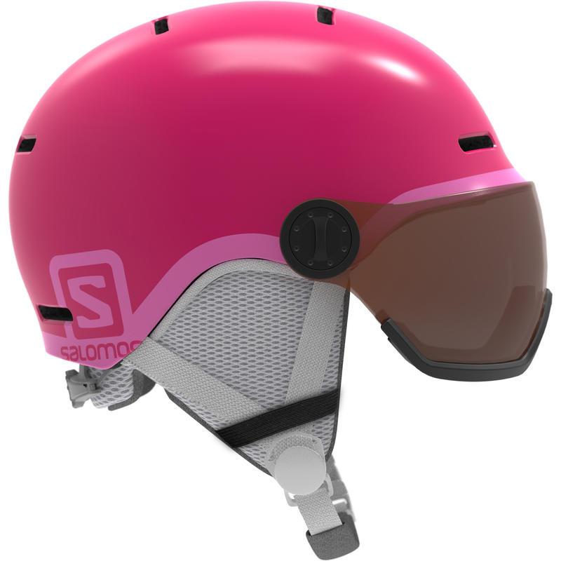 Grom Visor Snow Helmet + Visor Glossy Pink