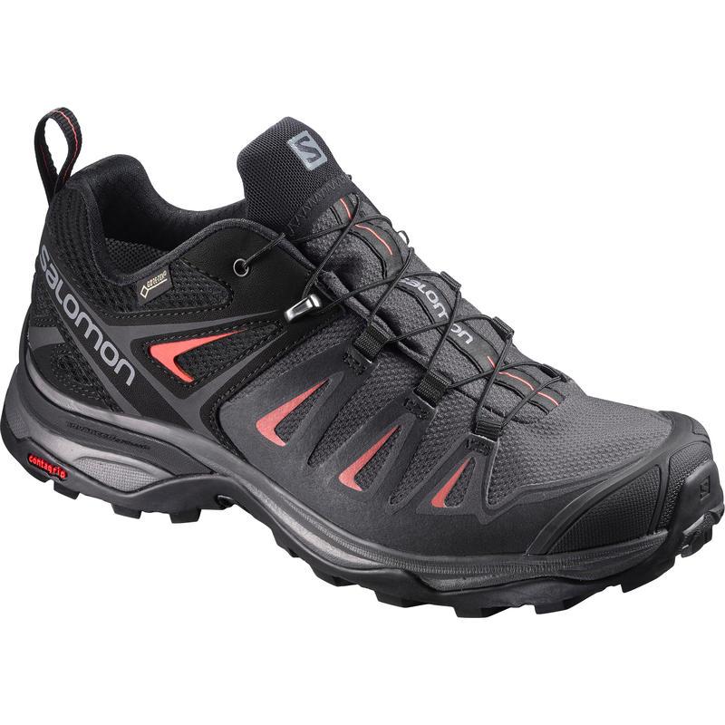 Chaussures de randonnée légère X Ultra 3 GTX Aimant/Rouge minéral