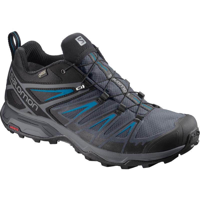 Chaussures de randonnée légère X Ultra 3 GTX Noir/Surf hawaiien