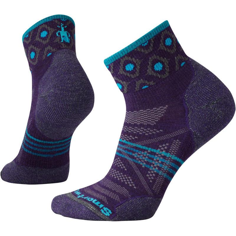 Chaussettes ultralégères à motif PhD Outdoor Mini Pourpre montagne