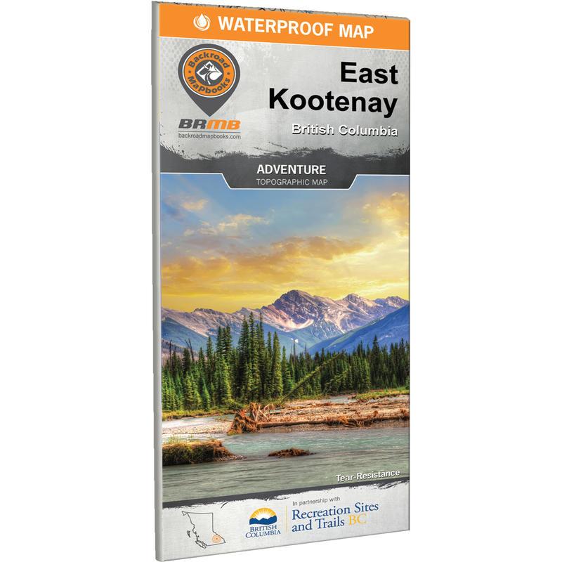 East Kootenay BC Waterproof Map
