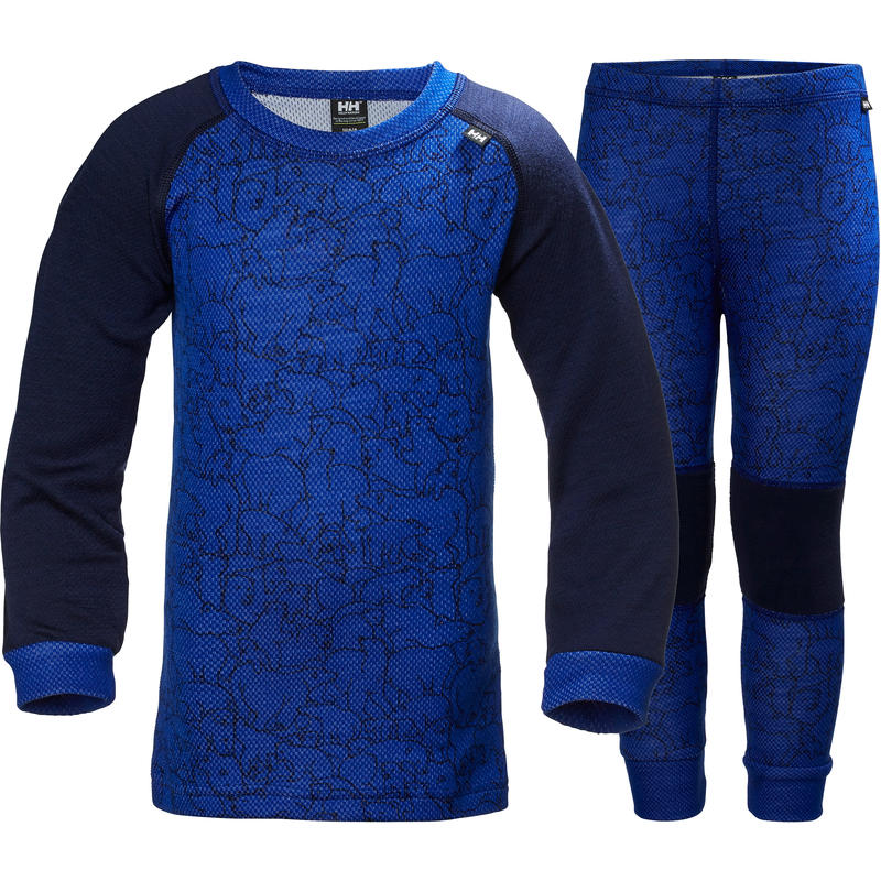 Ensemble de sous-vêtements Lifa en laine mérinos Bleu olympien