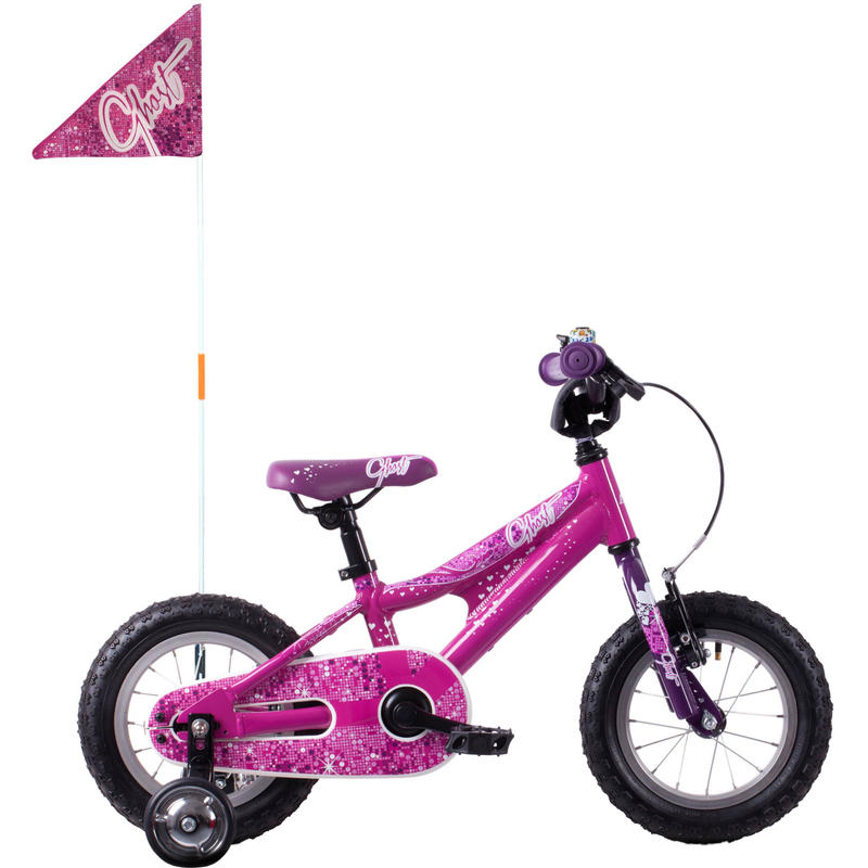 "Powerkid 12"" Bicycle Black/Pink"