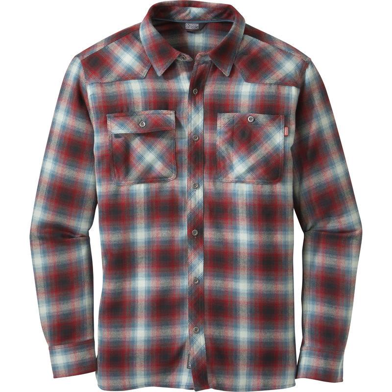 Feedback Flannel Shirt Black/Redwood