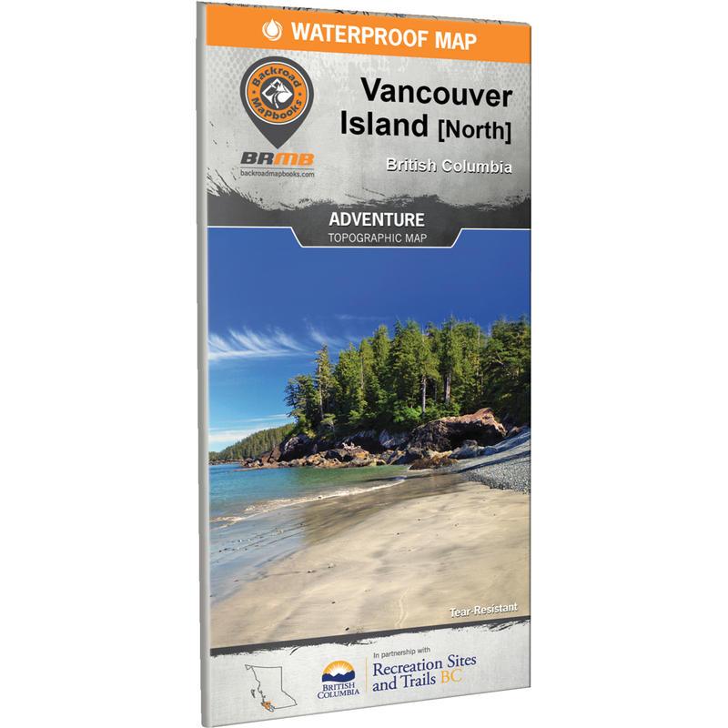 Vancouver Island North BC Waterproof Map
