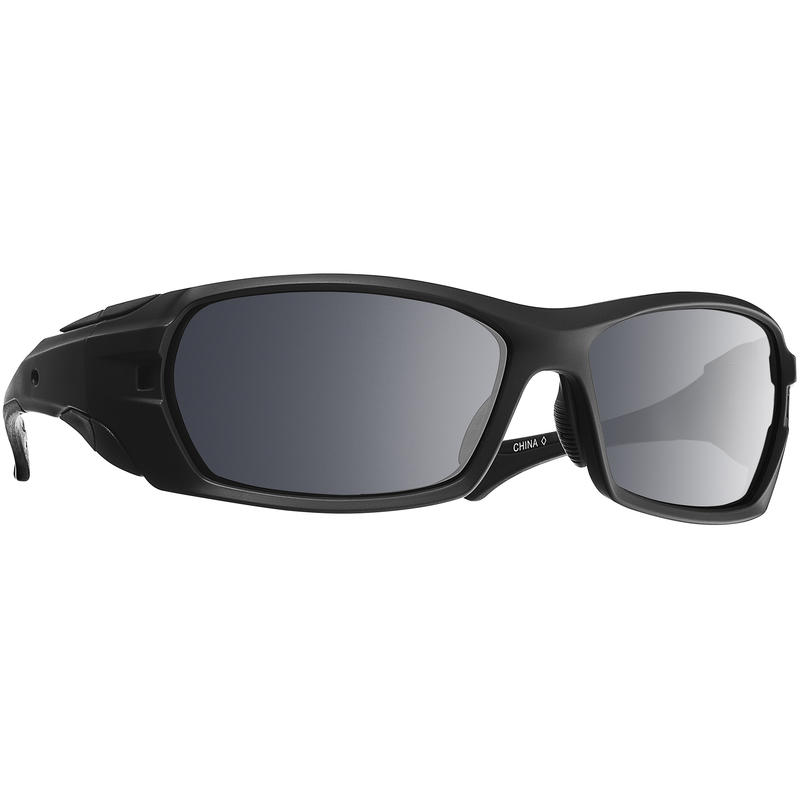 Traverse Polarized Sunglasses Matte Black w/PolarGrey w/Silver Flash Mirror