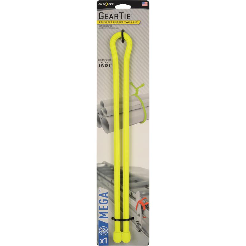 Attache Mega Twist pour matériel (81 cm) Jaune néon