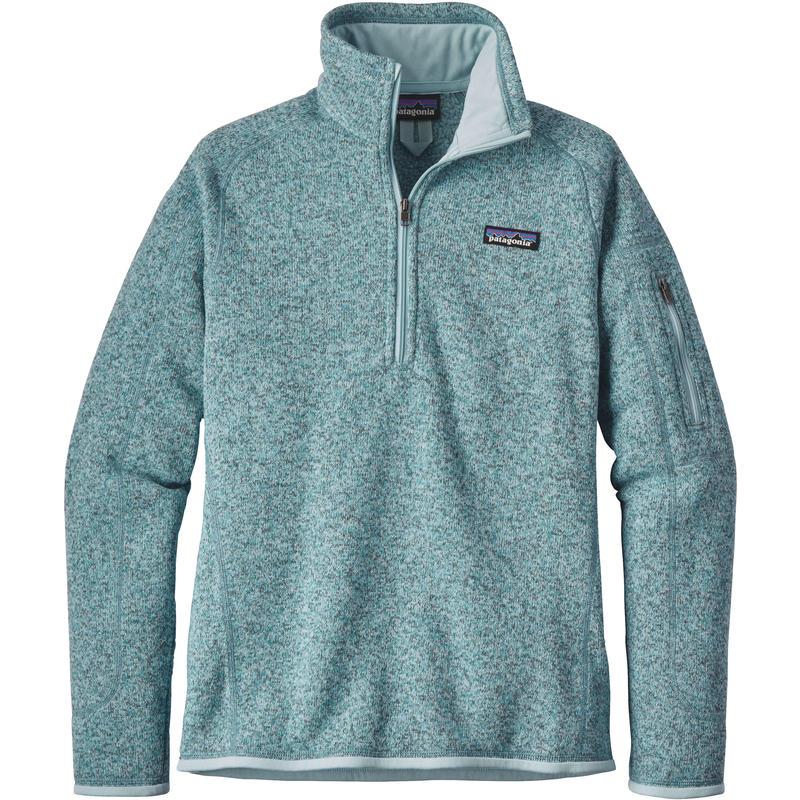 Chandail Better Sweater à glissière courte Bleu tubulaire/Bleu crevasse