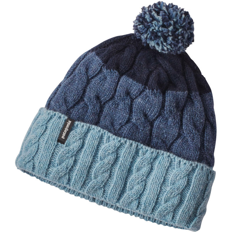 Tuque Pom Rayures glacier/Bleu tubulaire