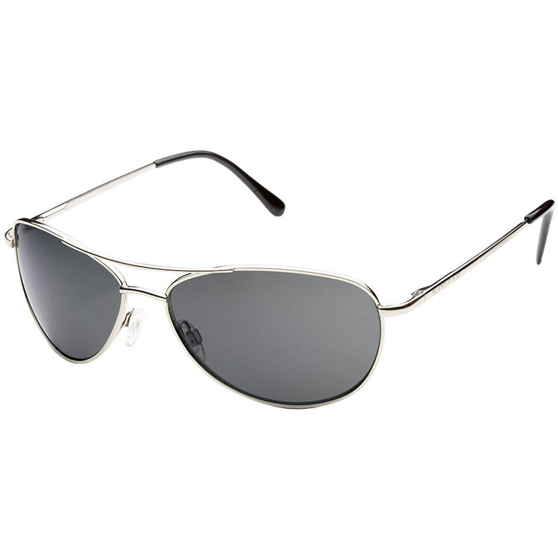 Patrol Polarized Sunglasses Silver/Grey