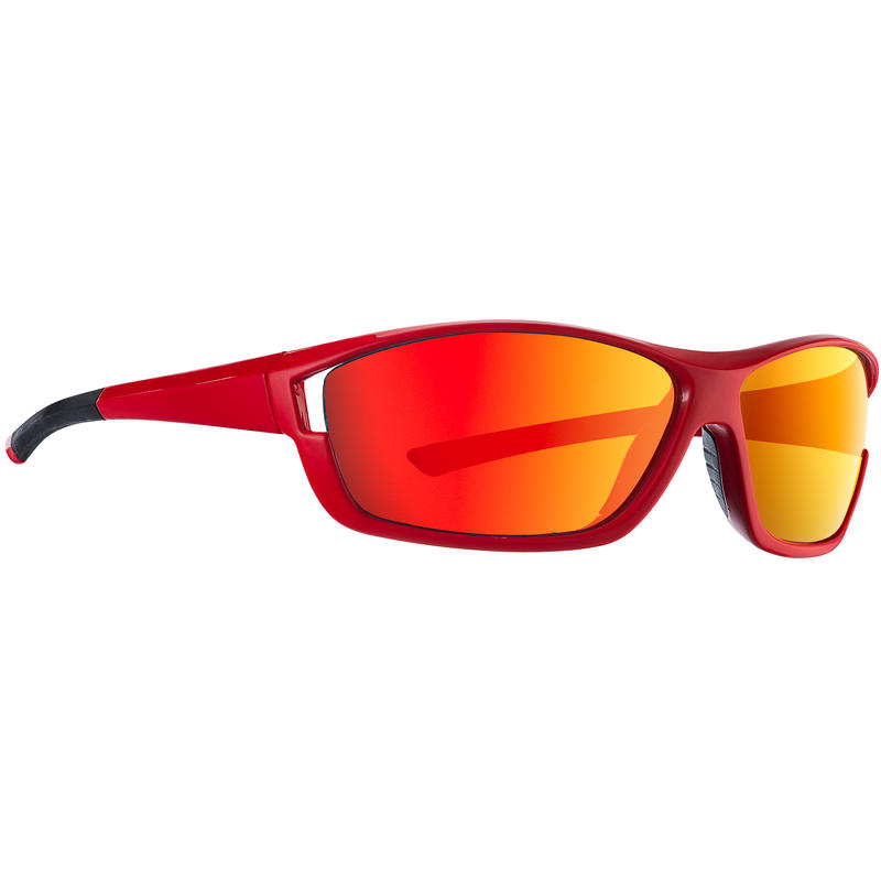 Phyche Sunglasses Matte Neon Red/Grey w/ Red Revo