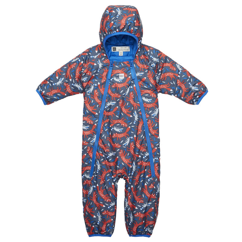 Cocoon Bunting Suit Fox and Raccoon Print