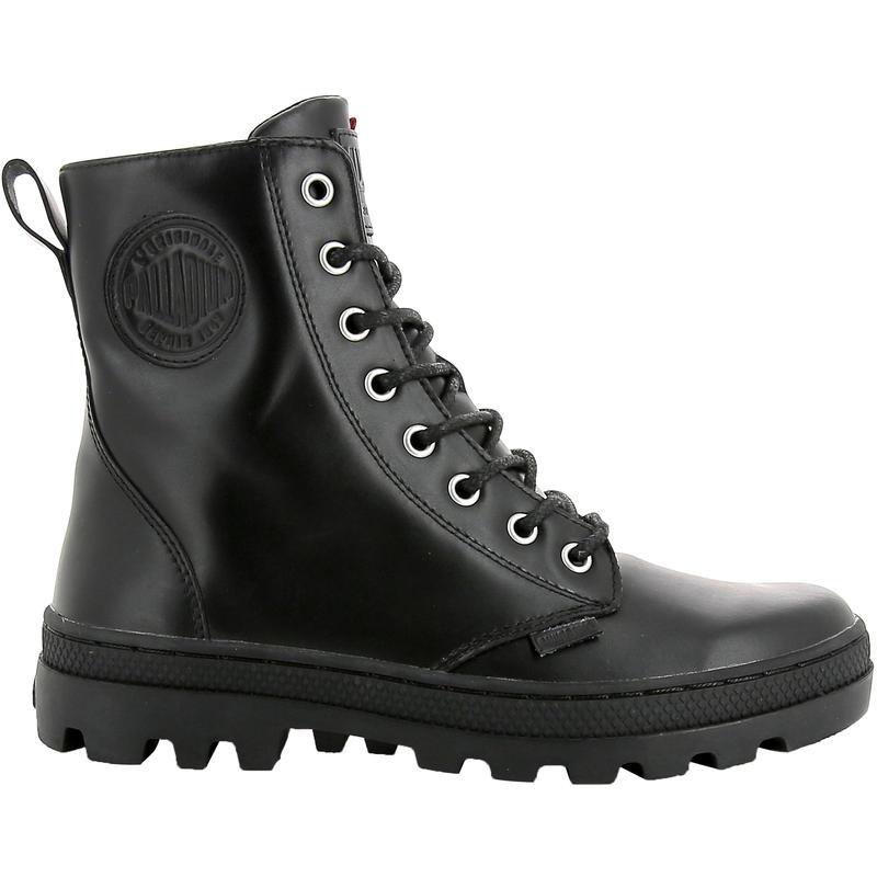 Bottes de cuir Pallabosse Officer Noir