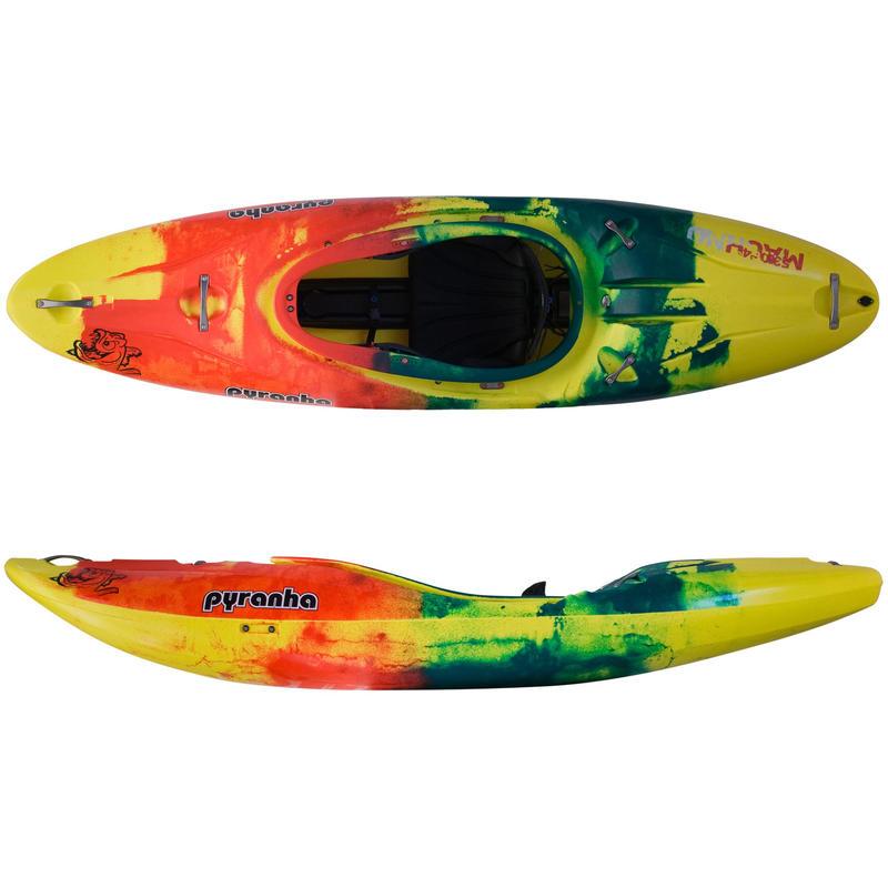 Kayak Machno Jaune/Rouge/Vert foncé