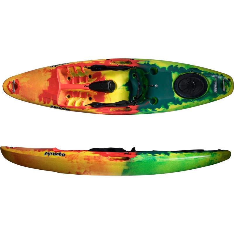 Kayak déponté Fusion Jaune/Rouge/Vert foncé
