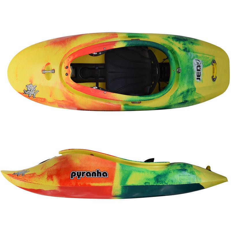 Kayak Jed Jaune/Rouge/Vert foncé