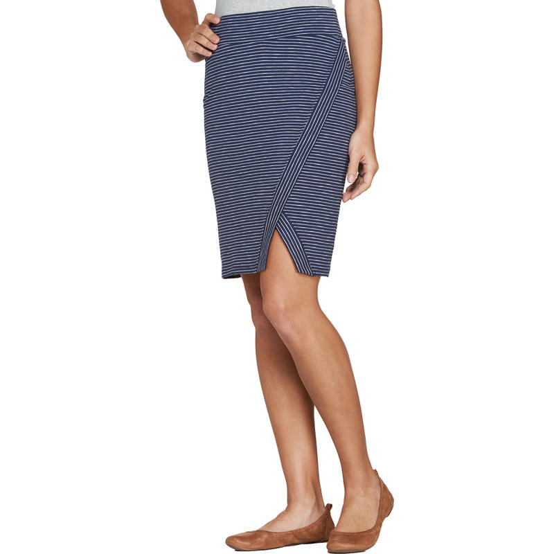 Moxie Skirt Deep Navy Thin Stripe