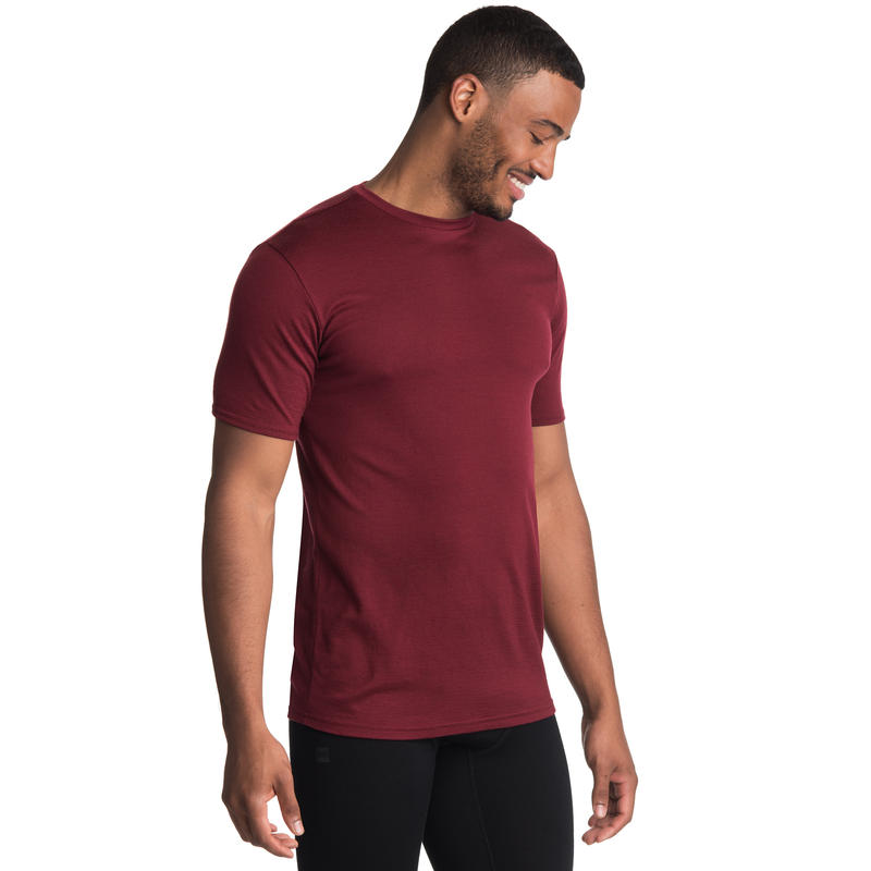 Maillot à col rond Merino T2 Rouge oxydé