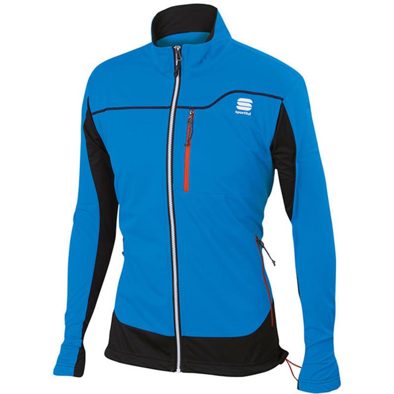Manteau coupe-vent Engadin Bleu électrique/Noir