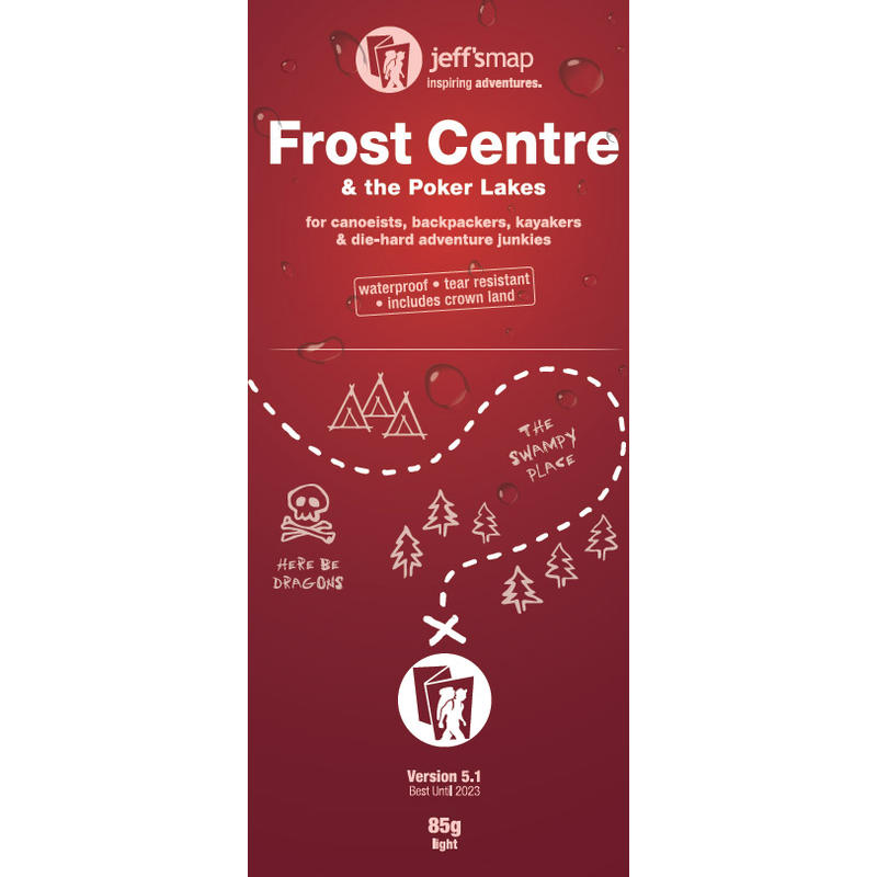 Frost Centre& The Poker Lakes Map
