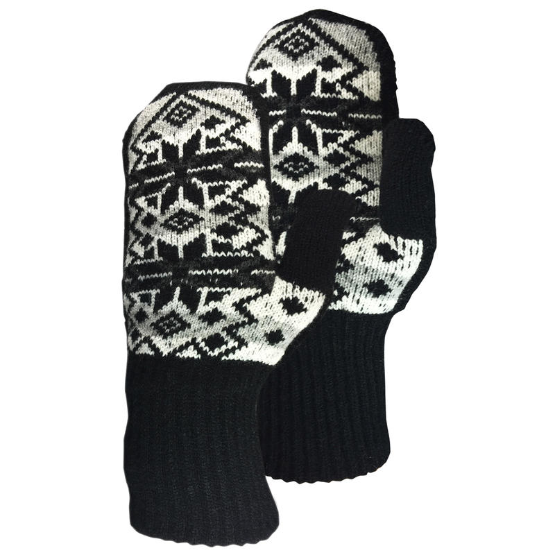 Norwegian Flakes Mitt Black/White
